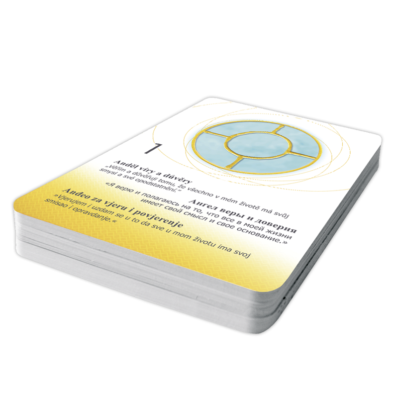 Energized Cards Energizirani Andeoski simboli 1-49 (trilingual HR/CZ/RU) with Info-Booklet (Croatian)