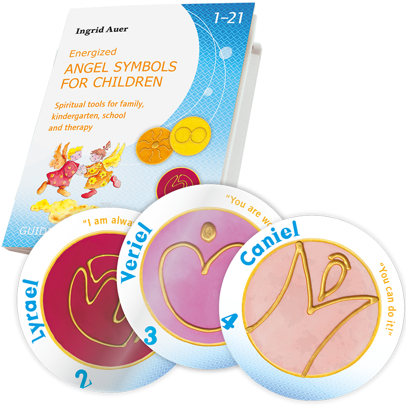 Energized Card Set Energized Angel Symbols for Children ENGLISH with Guidebook