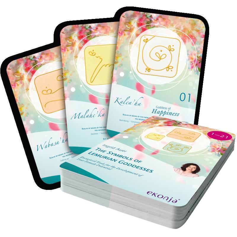 Energized Cards The Symbols of Lemurian Goddesses (English)